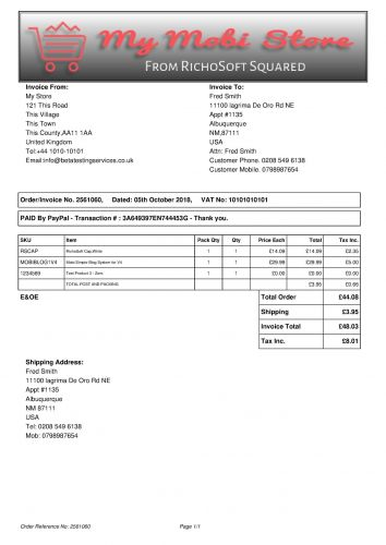 Invoice Plug-In for My Digi Store System for V4