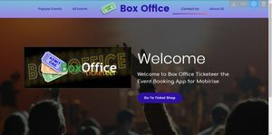 BoxOffice Ticketeer Template System for Mobirise V5