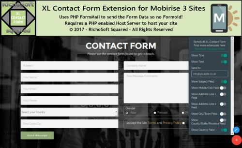 Mobirise XL Contact Form Extension