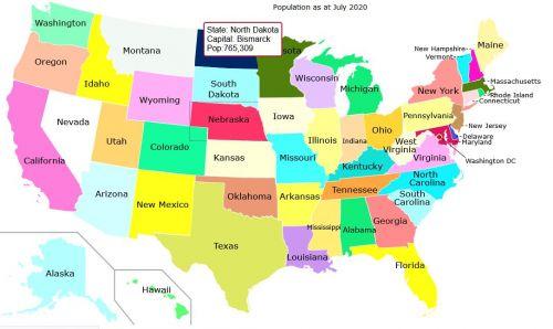 USA States Clickable Maps