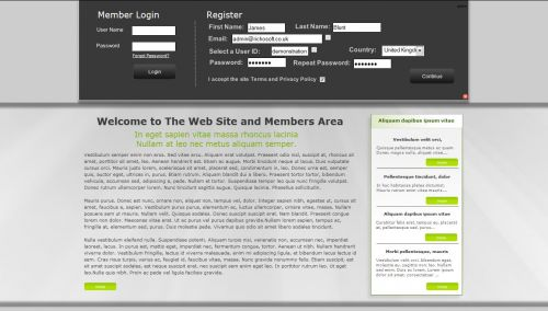 Web Site +Subs Members Area X7 (For Serif WebPlus X7)