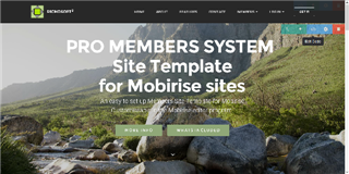 Mobirise PRO Membership System Template for v3.08 to 3.12.1 from RichoSoft Squared