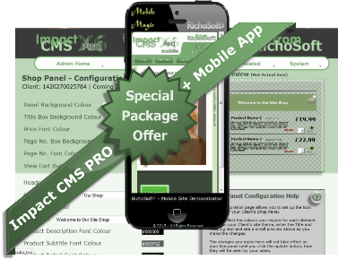Impact CMS PRO X7 SPECIAL PACK (For Serif WebPlus X7) 4.2