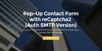 Mobirise Auth SMTP PopUp Contact Form with reCaptcha2 for v3.08 or later from RichoSoft Squared