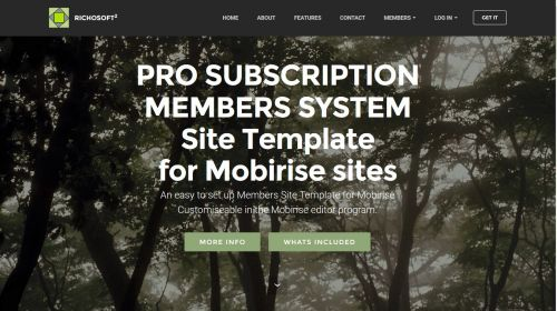 Mobirise PRO V4 Subscription Membership System Template