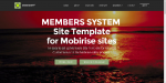 Mobirise V4 Membership System Template for v4.5.x or later from RichoSoft Squared