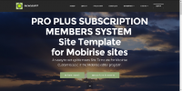 Mobirise PRO PLUS Subscription Membership System Template for v3.08 to 3.12.1 from RichoSoft Squared