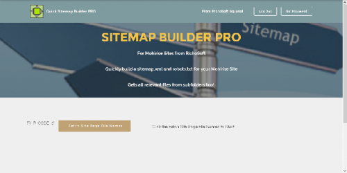 Mobirise PRO Quick Sitemap System for v3.08 or later from RichoSoft Squared