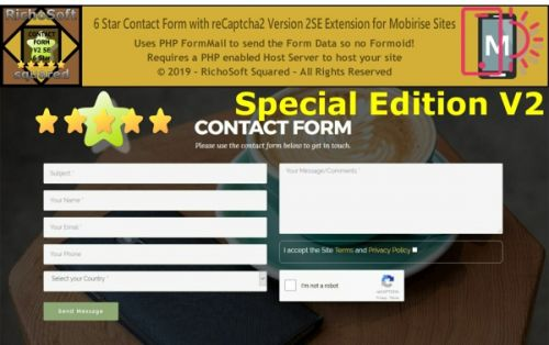 Special Edition 6 Star reCaptcha2 Contact Form Extension