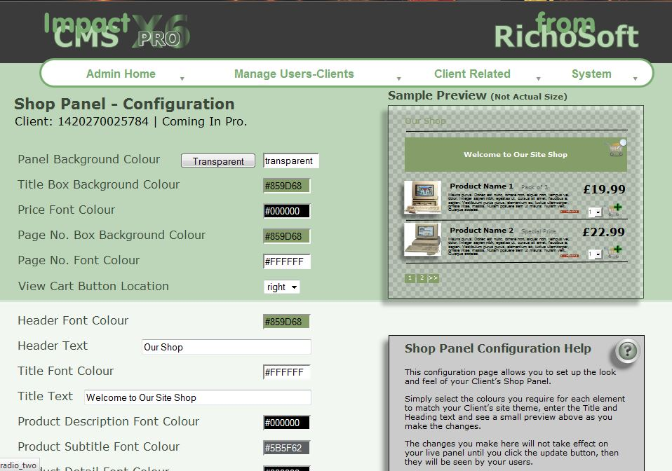 Impact CMS Pro Special Pack X8 For Serif Webplus X8 V4.2 - RichoSoft ...