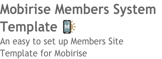 Mobirise Members System
