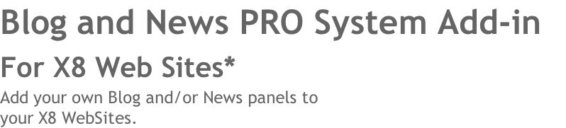 Blog and News PRO System Add-in 